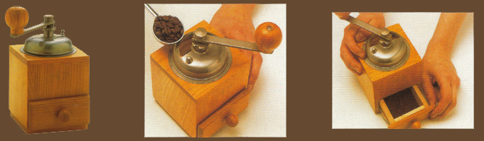 Hand mill coffee grinder