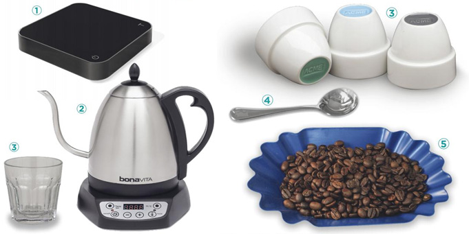 Coffee cupping tools