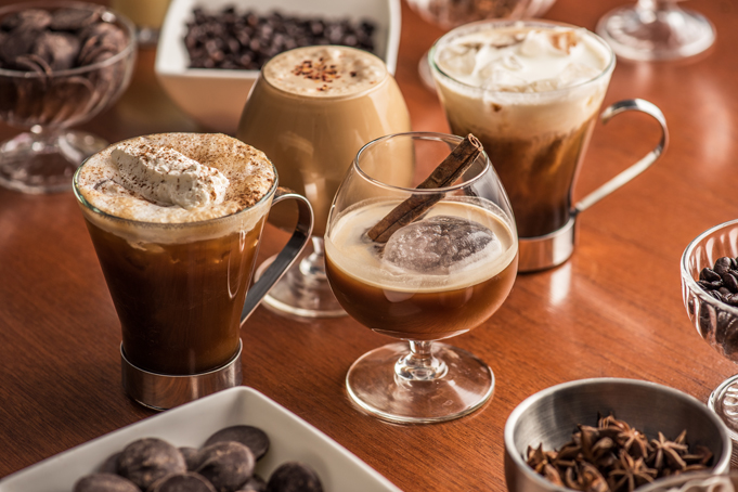 Different types of coffee drinks